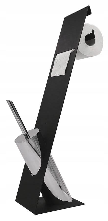 69 cm stojan na toaletný papier ČIERNY / CHROME
