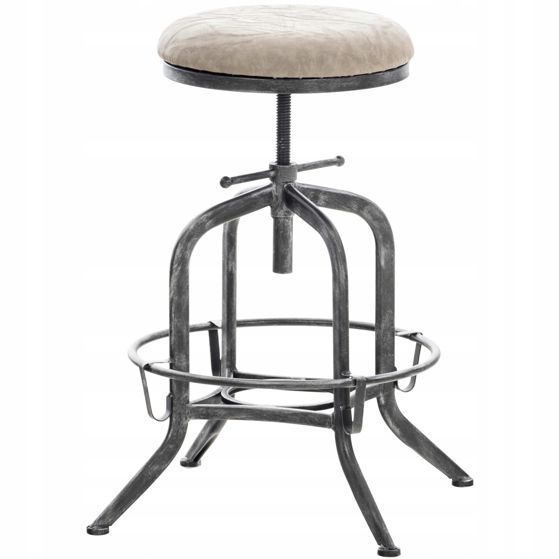 Barová stolička AVADI Retro z umelej kože šedá