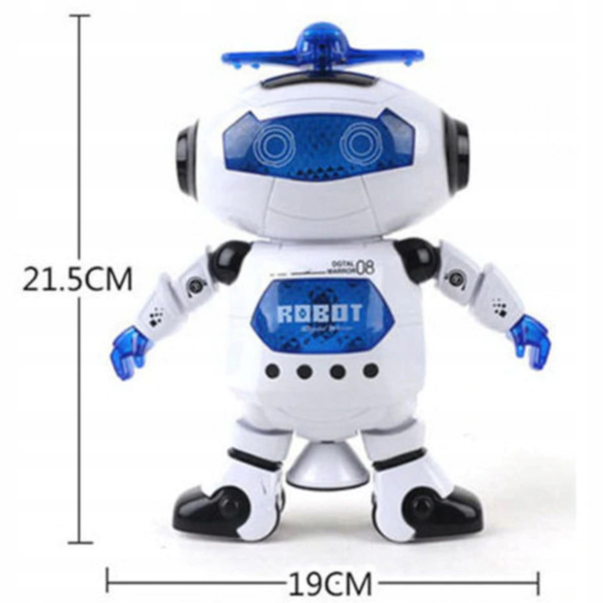 Tańczący robot interaktywny jeździ dźwięki 44-2 Wysokość produktu 21 cm