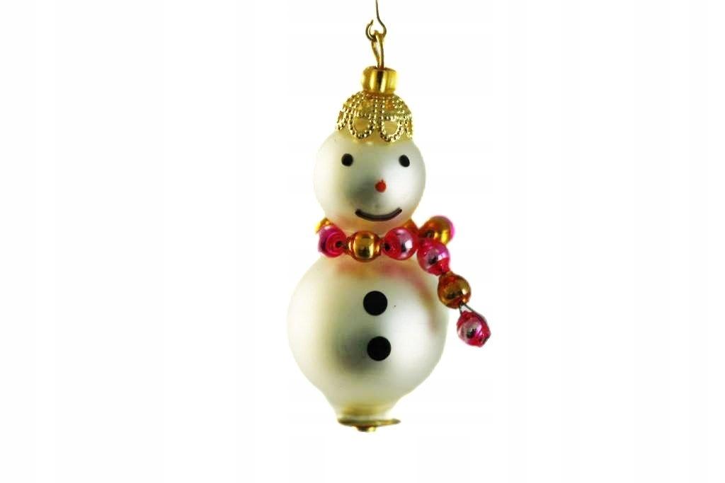 Bohémsky vianočný darček z bieleho ružového snehuliaka