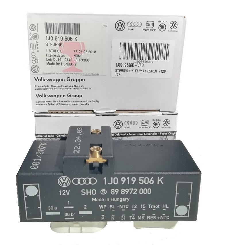 1j0919506k org oem vag модуль драйвер вентилятора