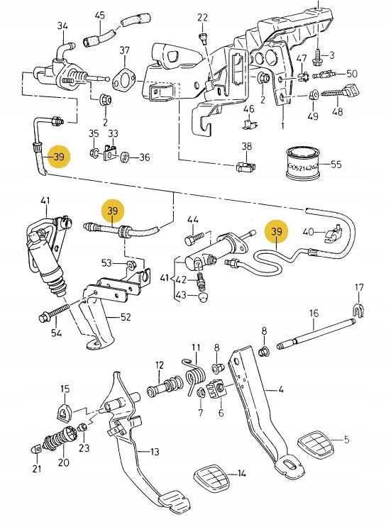 кабель гидравлический wysprzĘglika vw skoda seat