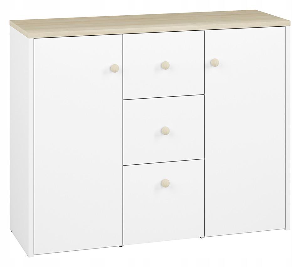 Bielizník (zásuvky+locker) ELMO 09 ML biely NÁBYTOK