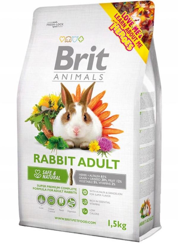 Корм для кроликов Brit Animals ВЗРОСЛЫЕ 1,5 кг