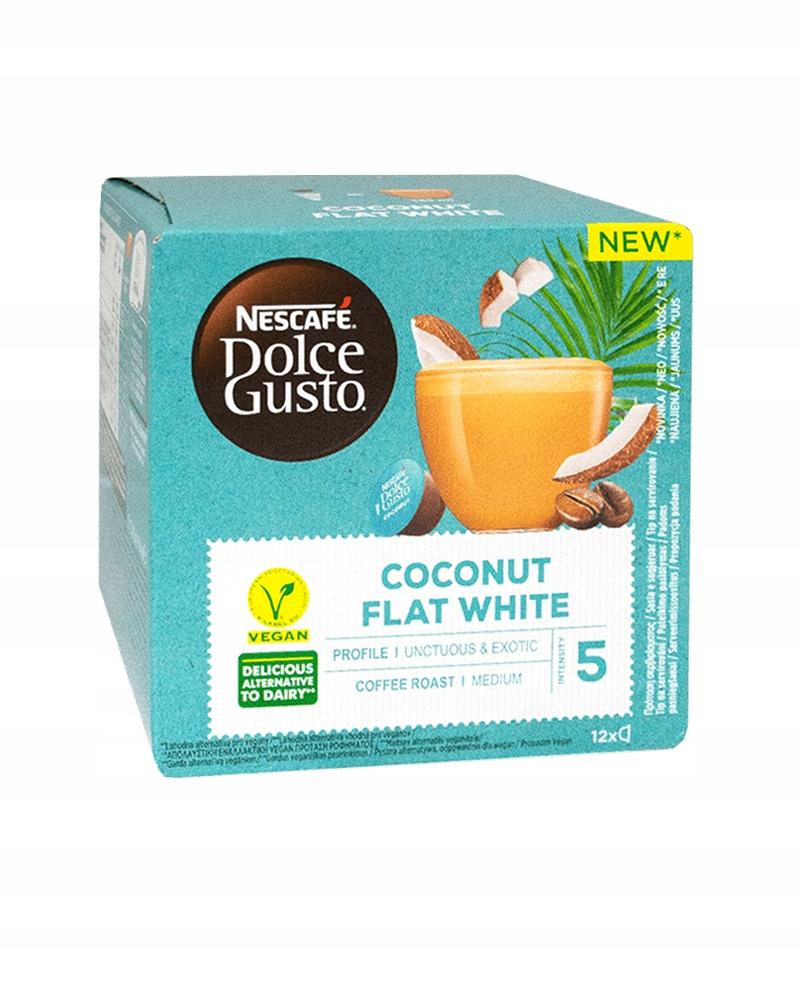 12 NESCAFE DOLCE GUSTO FLAT WHITE COCONUT кофе