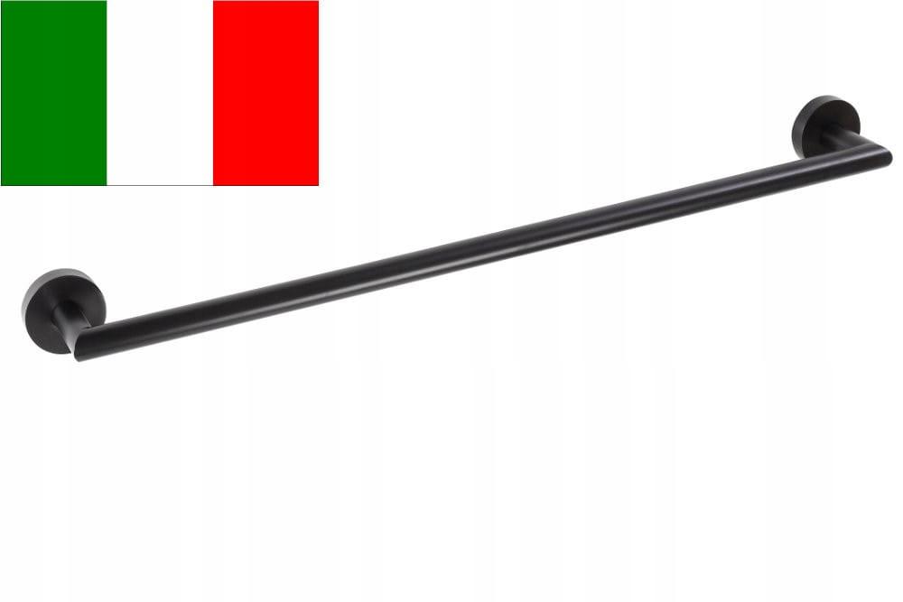 Držiak na uterák 65,5 x 5,5 x 6,5 cm, čierny X-ROUND