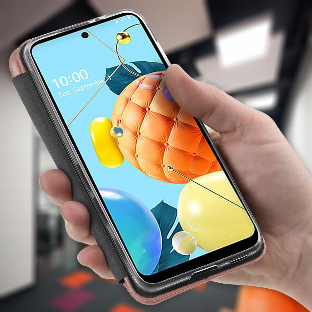Etui do LG K52 Skórzane Magnet Case + SZKŁO 9H Producent Kraina GSM