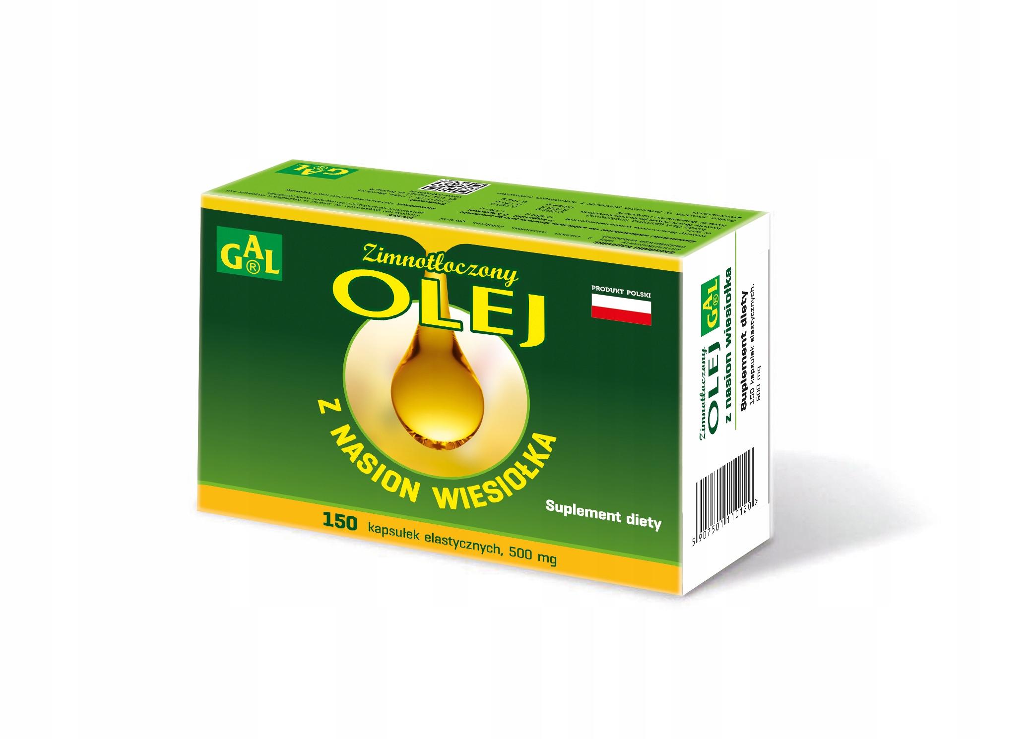 GAL Olej z nasion wiesiołka 150 kapsułek