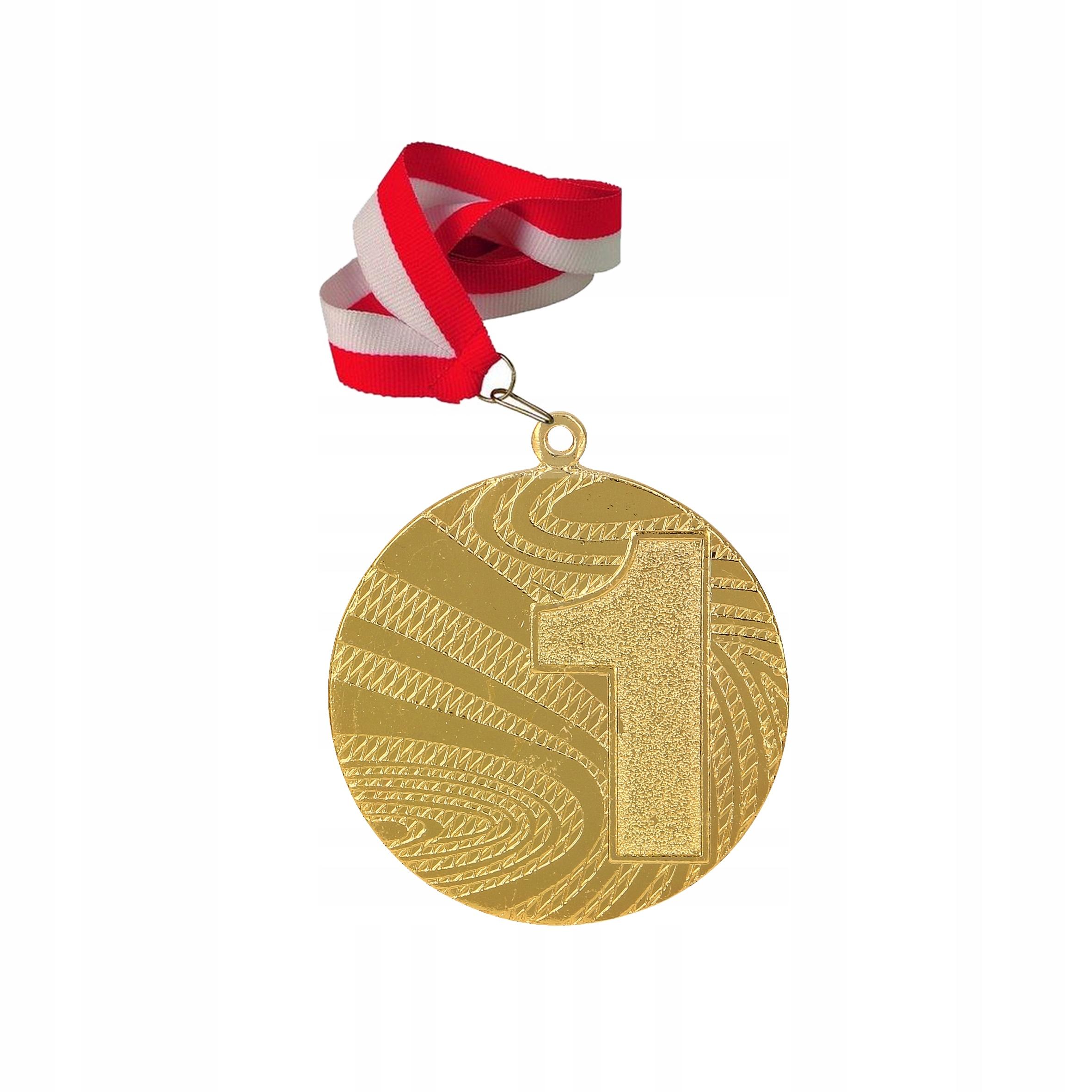 Medaila medailu Gold Silver Bronze + stuha gravírovanie