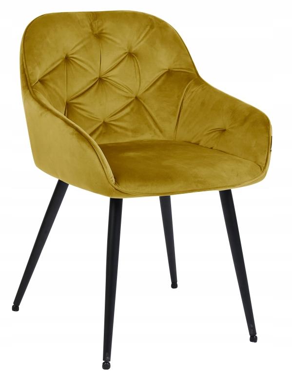 Krzesło tapicerowane Loren velvet curry