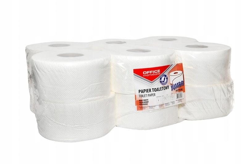 Papier toalety PRODUKTY balíka OFFICE Jumbo 2-wars 12x120m