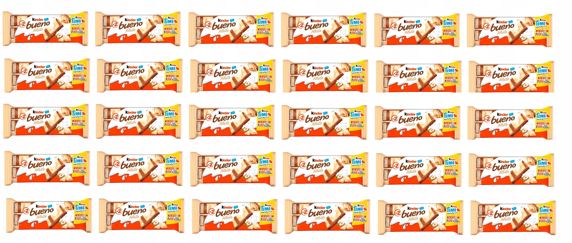 Candy bar KINDER BUENO BIELA Kinder 39g x 30 ks
