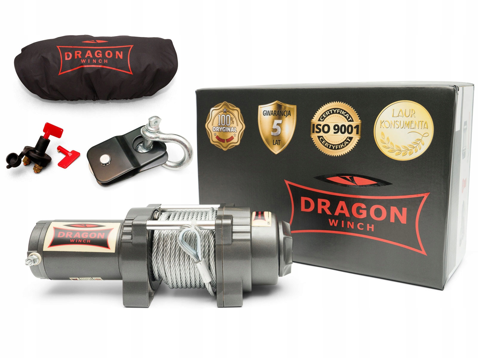 ЛЕБЕДКА DRAGON DWH4500HD QUAD WINCH