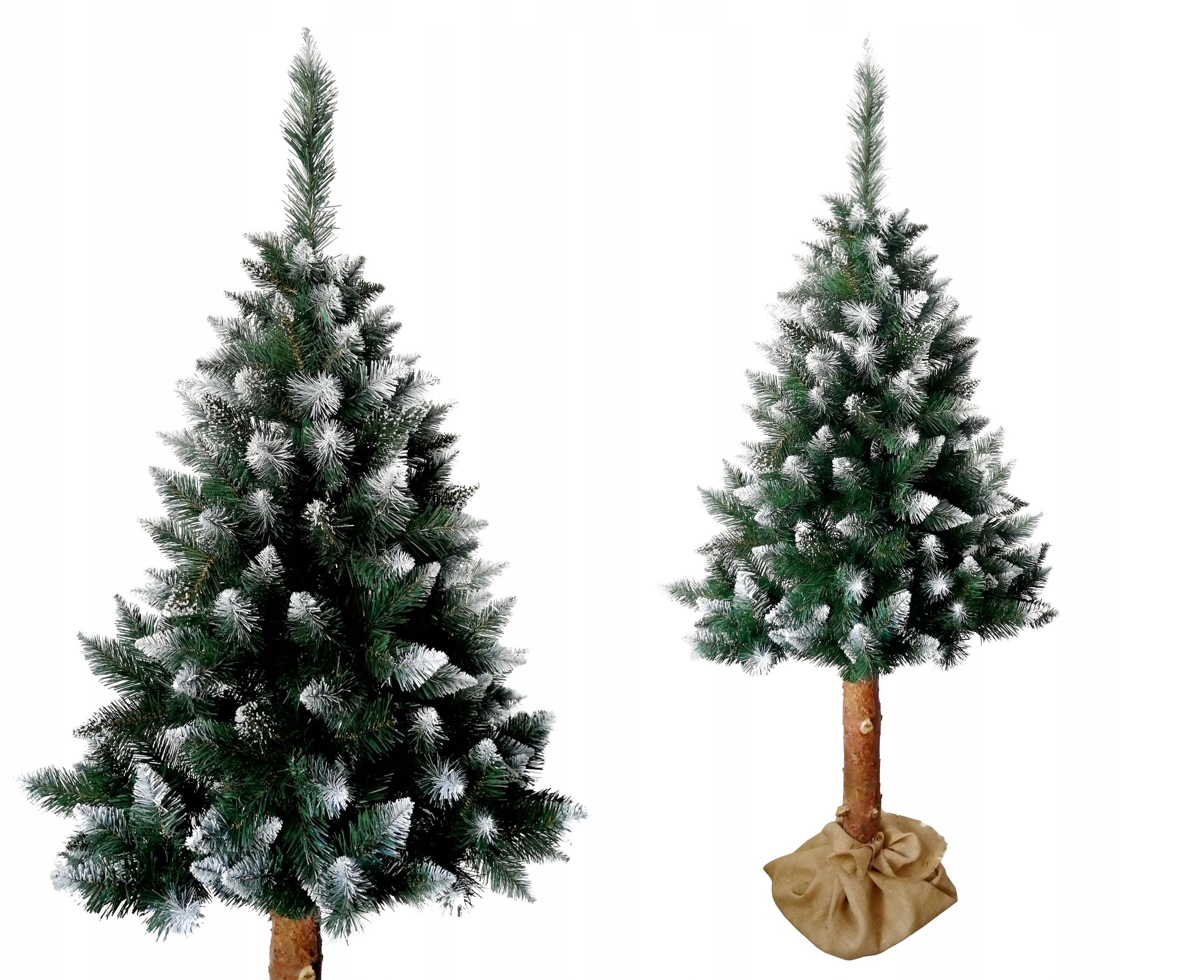 Vianočný stromček Rozprávkový BOROVICA BIELA 220CM na kufri