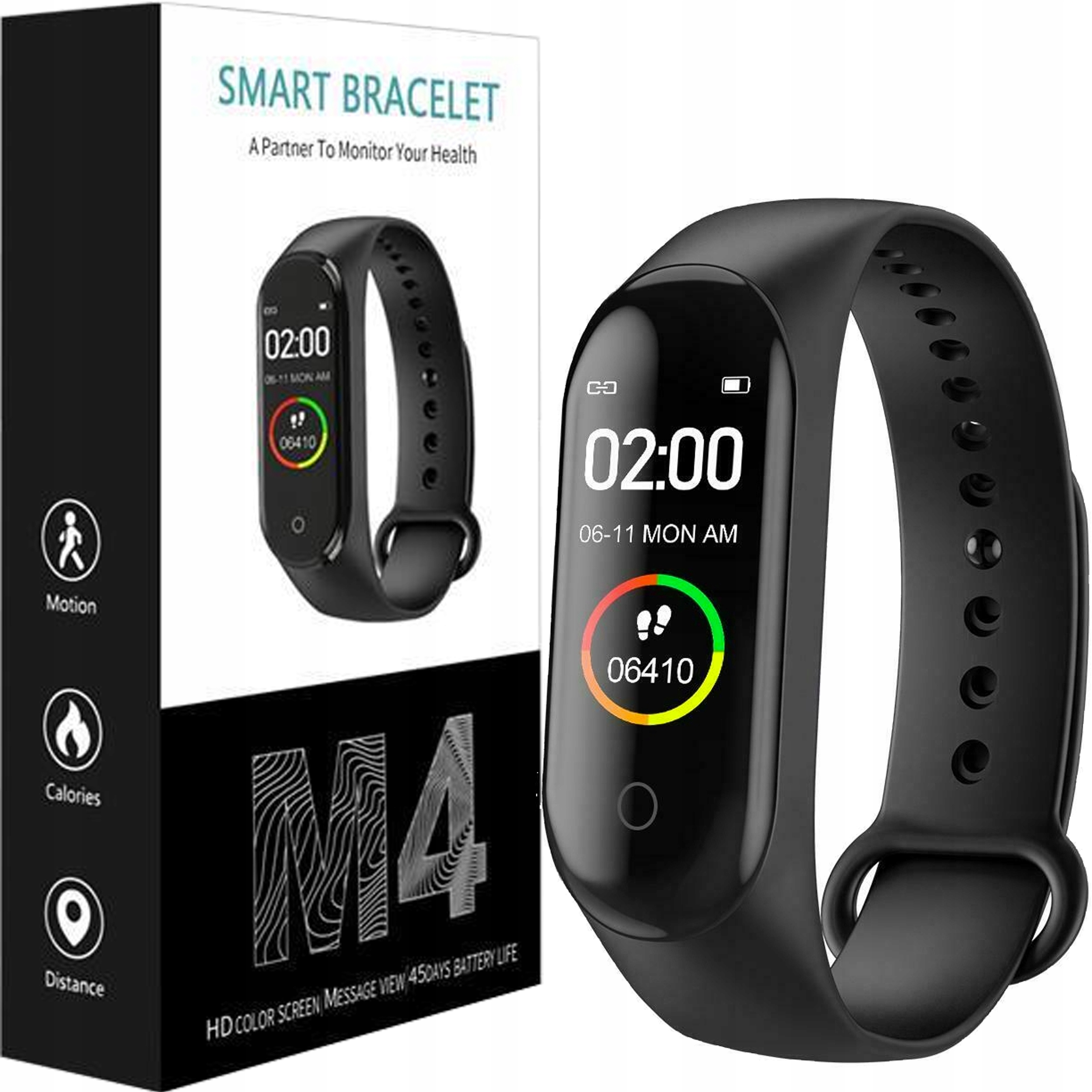 SMARTBAND M4 SMARTWATCH FIT SPORTS BAND PULSE