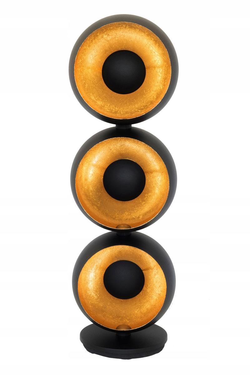 Čierna a zlatá podlahová lampa Retro Alona 3 Eyes