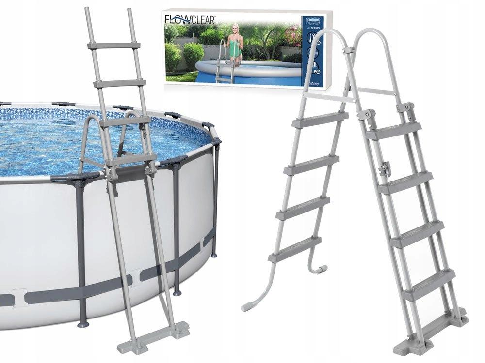 Bestway Bezpieczna DRABINKA do basenu 122cm 58331 Producent Bestway