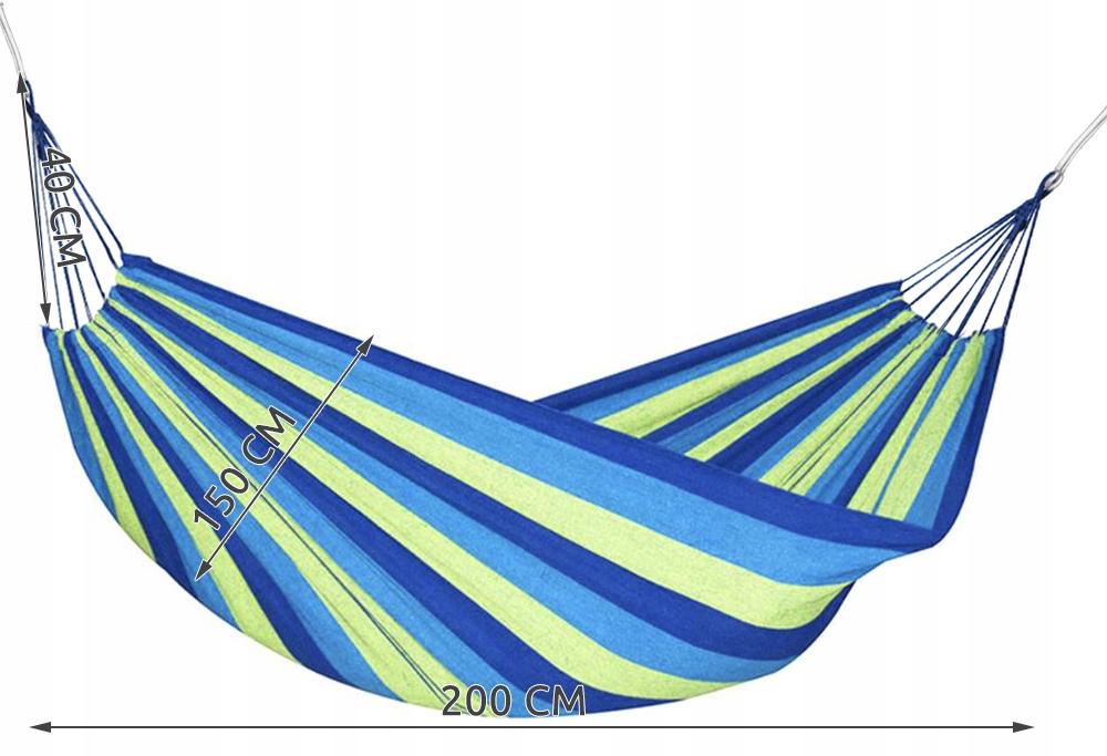 Duży Hamak 2 Osobowy Ogrodowy 200x150cm Malatec Kod producenta 1127