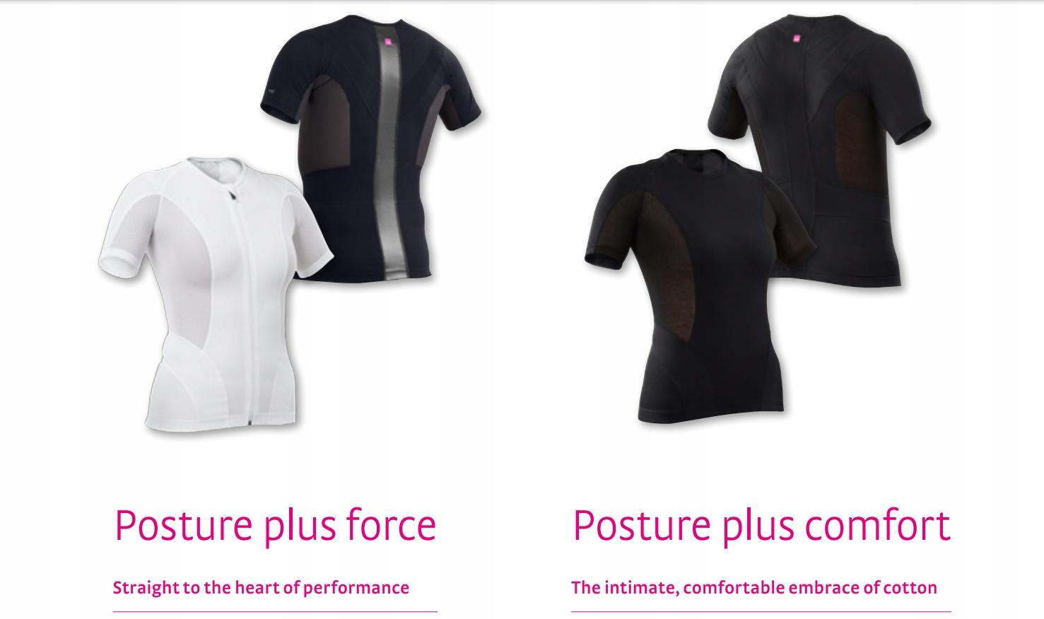 Koszulka korekcyjna MEDI Posture Force BLACK Właściwości oddychające odprowadzające wilgoć szybkoschnące