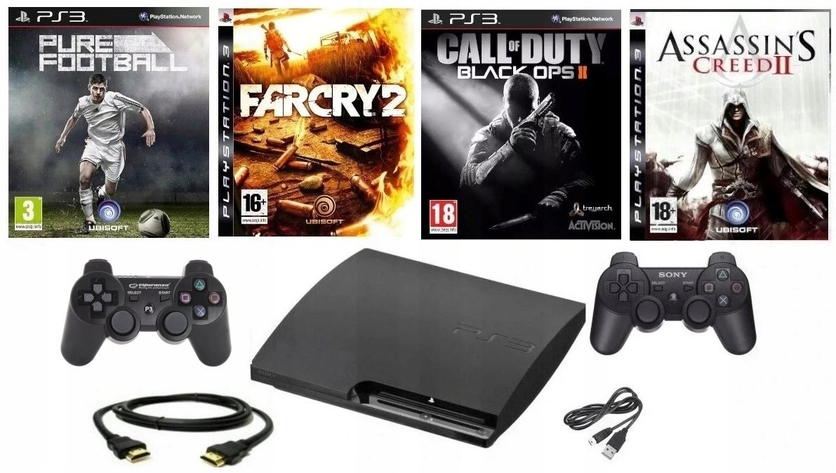 PlayStation 3 PS3 320 GB + 2XPAD + 4GRY