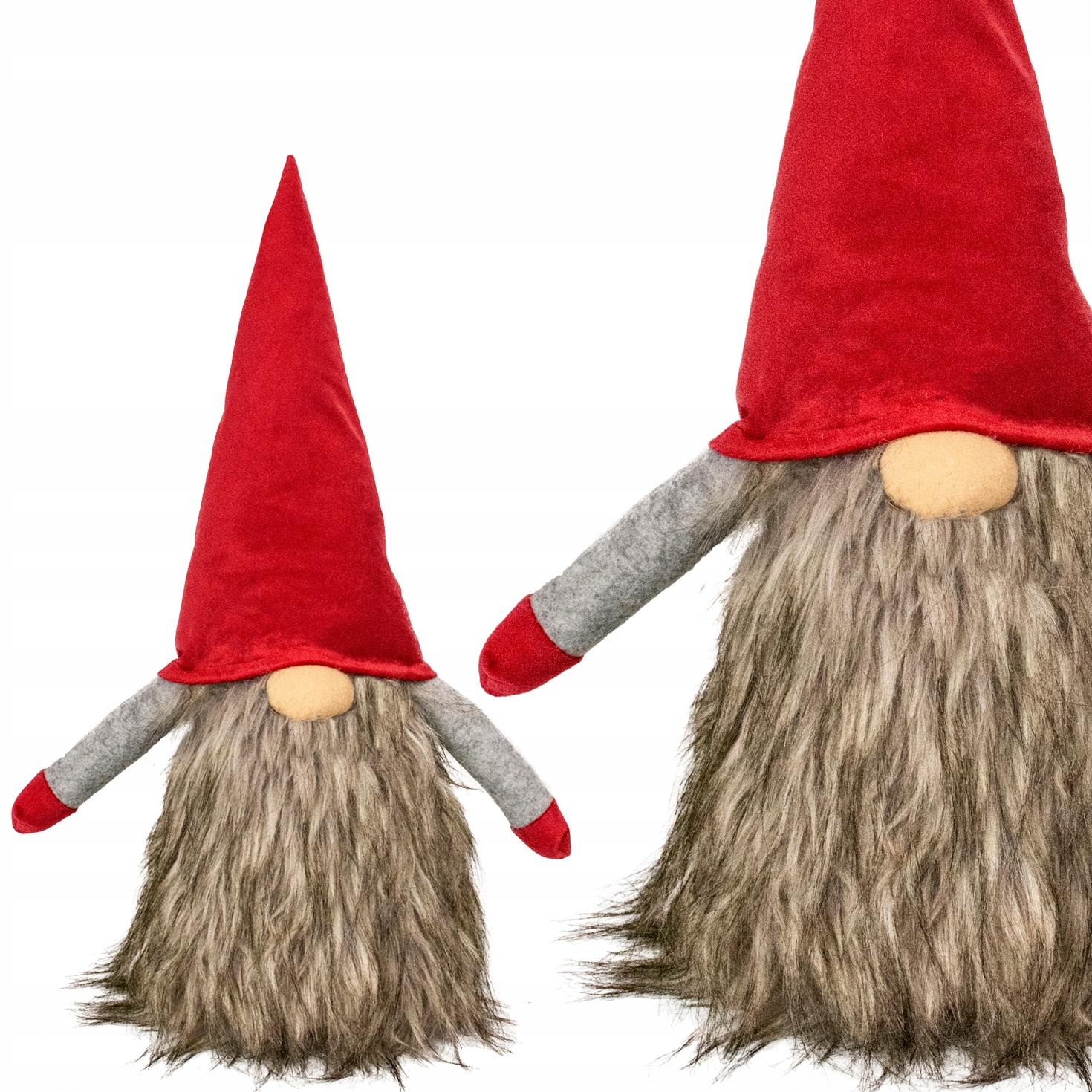 ГАЛЕРЕЯ Christmas Gnome Gnome 48см Меховая борода