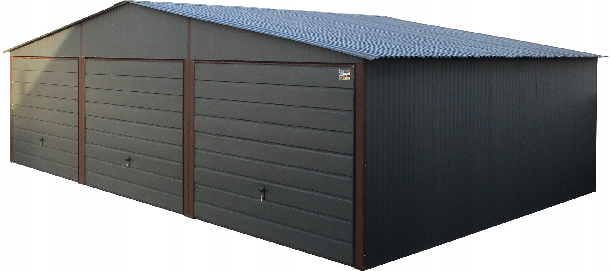 Жестяные гаражи 9x5 Garage Blaszak Graphite Blaszaki