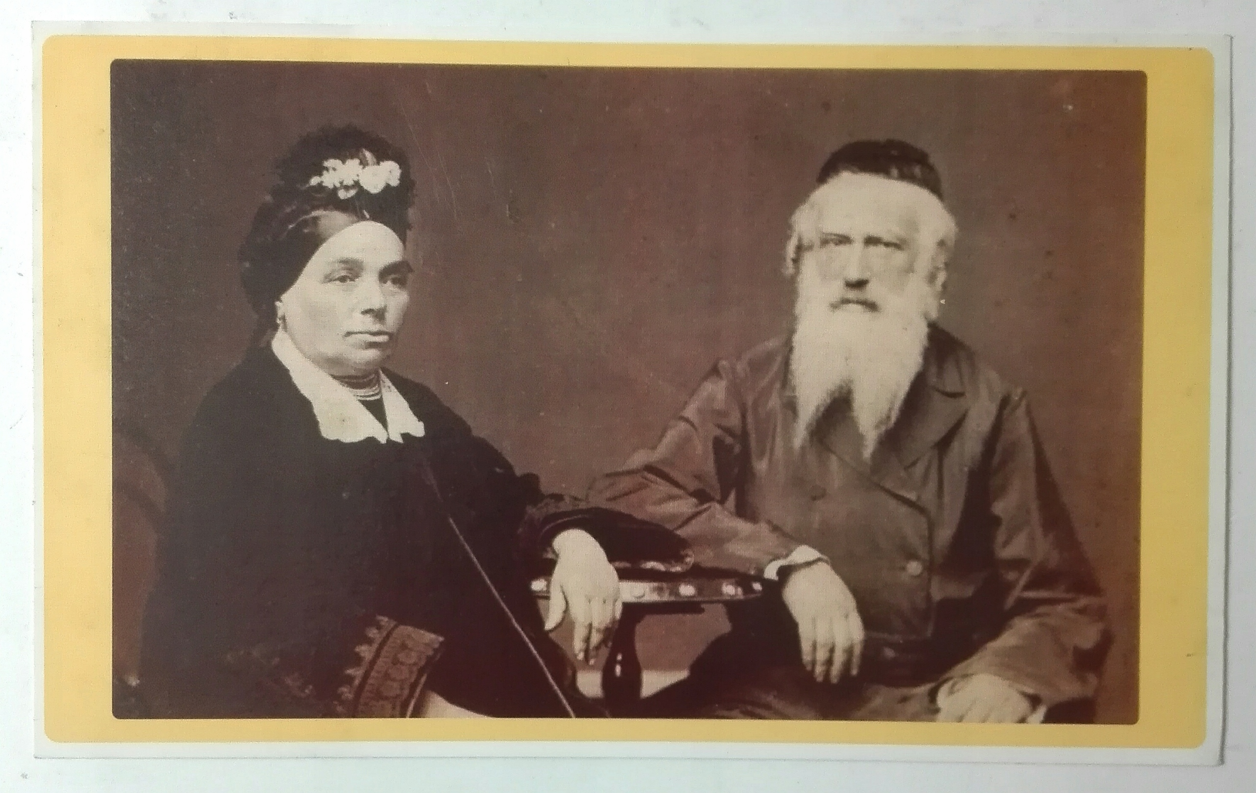 pocztówka Żydzi stare małżeństwo Krieger 1860 SPK