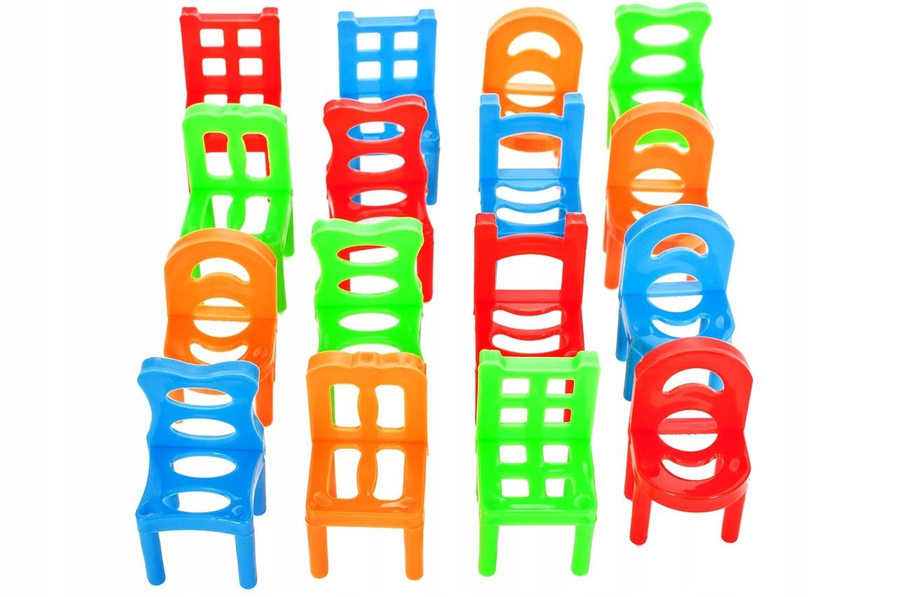 GRA Spadające Krzesła ZRĘCZNOŚCIOWA Dla 3 Graczy Czas rozgrywki do 15 min