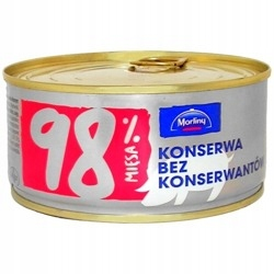 KONSERWA BEZ KONSERWANTÓW 300 G MORLINY 6 SZTUK