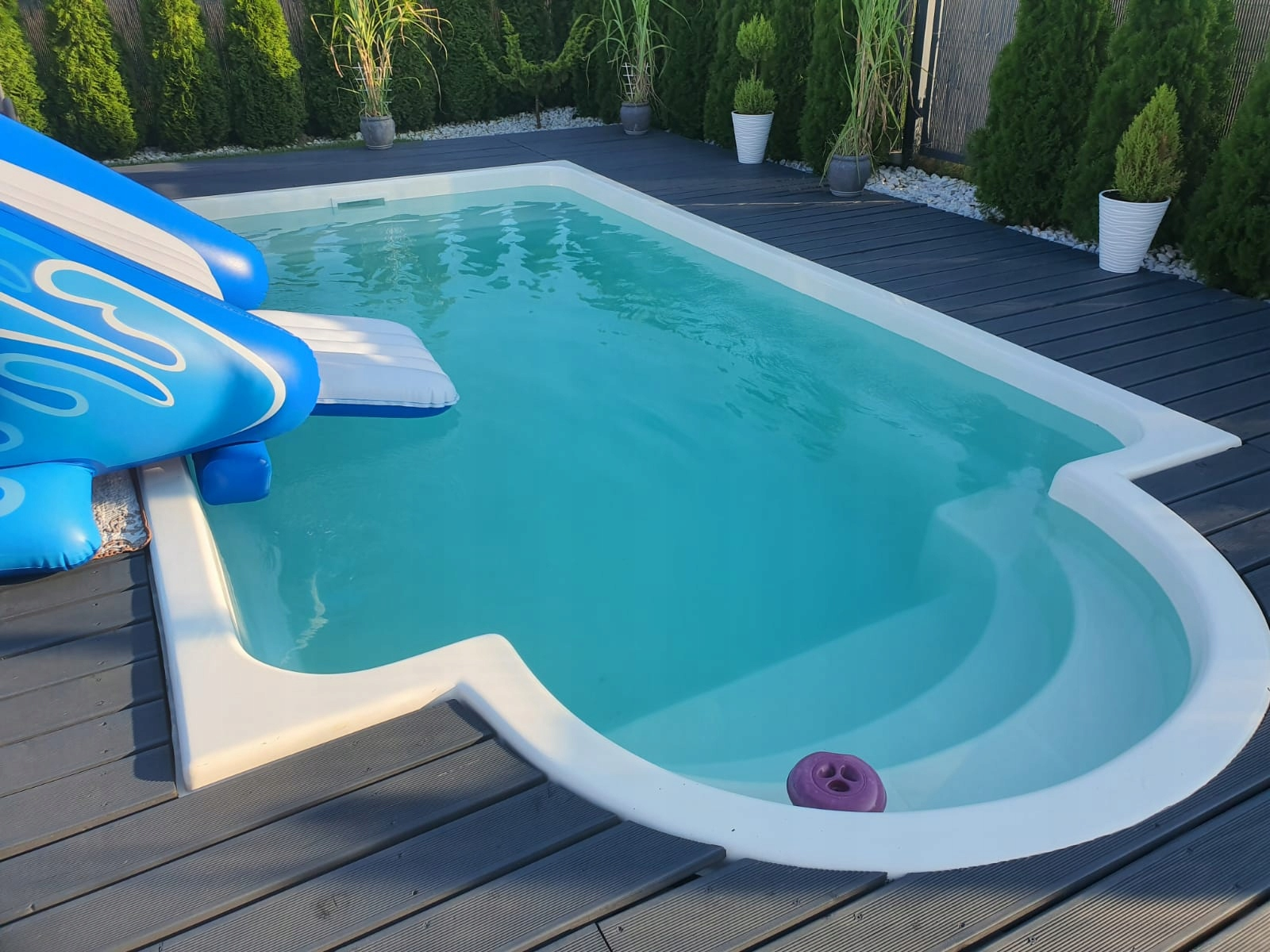Садовый бассейн из полиэстера 600x300x140 КОМПЛЕКТ -10%