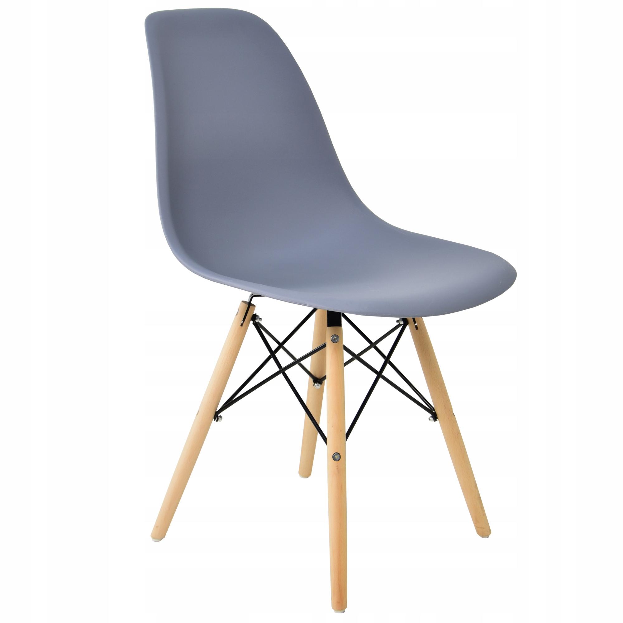 Komplet 6x krzesło SL krzesła skandynawskie SZARE