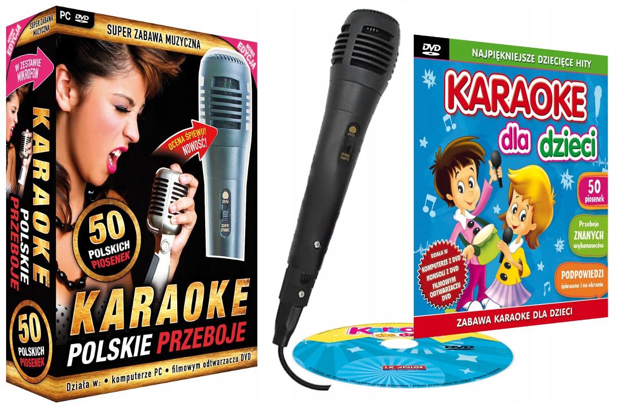 Sada poľských hitov + karaoke pre deti DVD + MIC