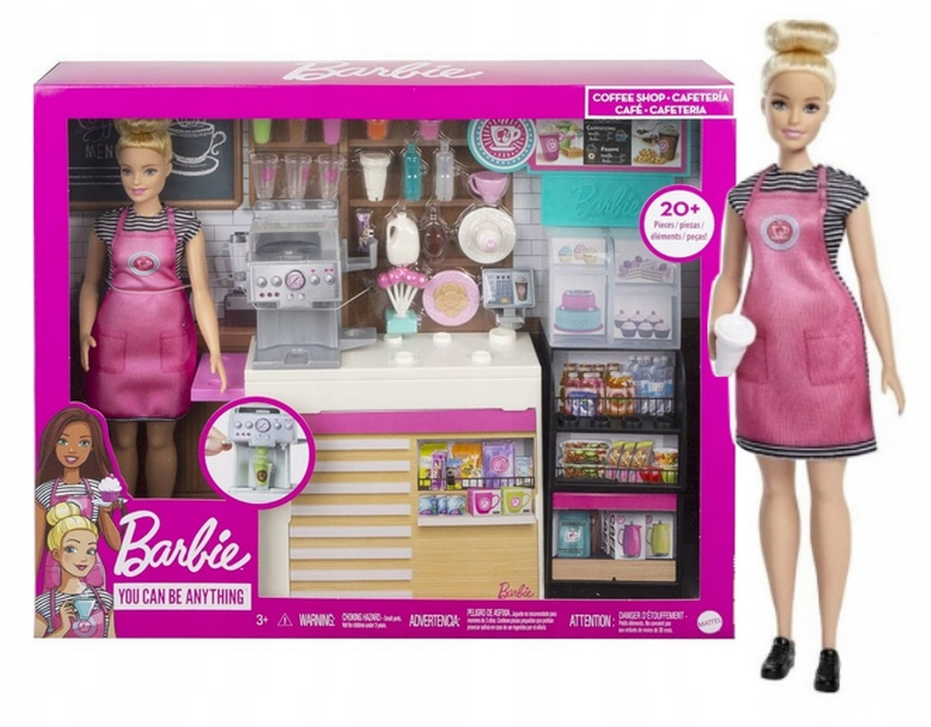BARBIE DOLL CAFE COFFEE set GMW03