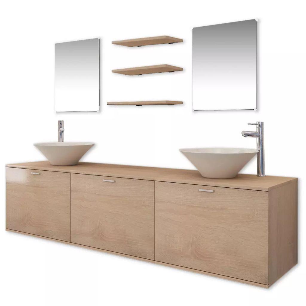 10 je čiastočný súbor nábytku do kúpeľne od zlewami