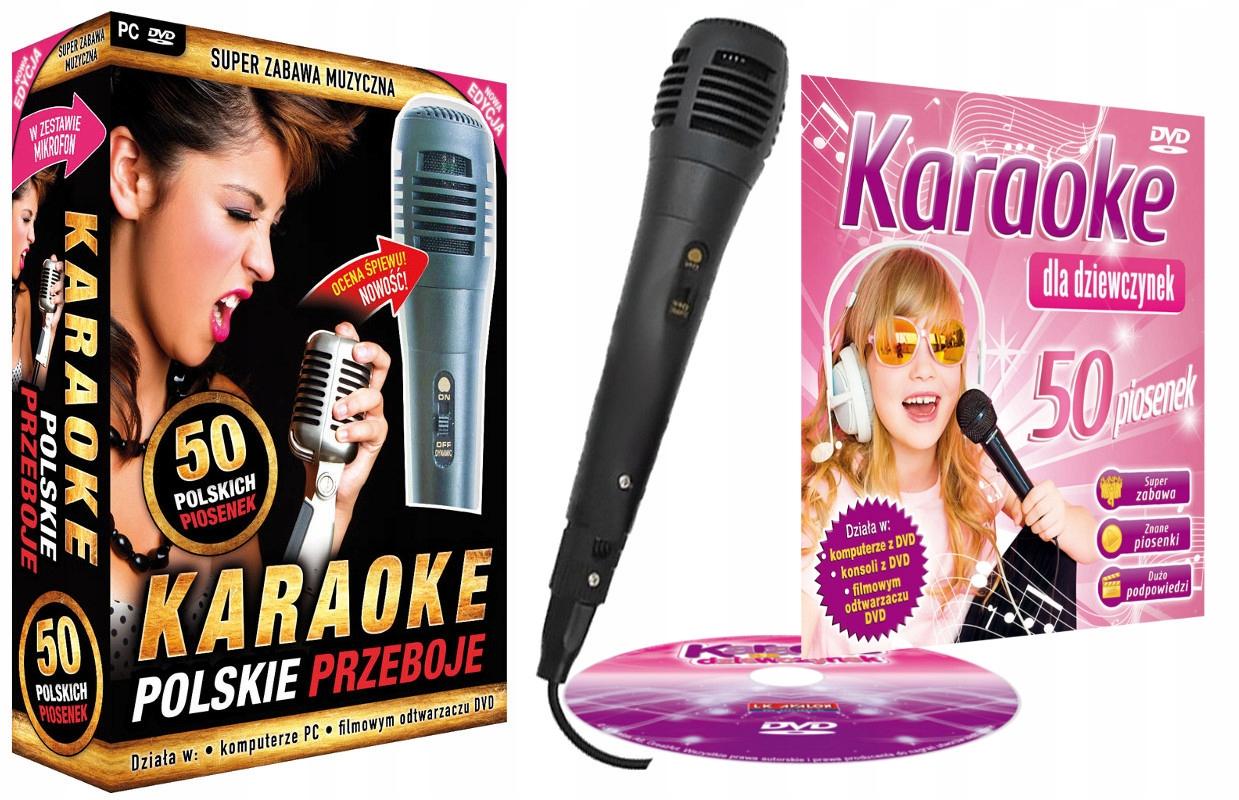 Poľské hity + karaoke pre dievčatá DVD + Mikr.