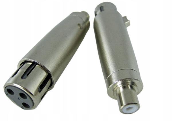 Adaptér RCA Chins Jack / 3 PIN XLR Slot