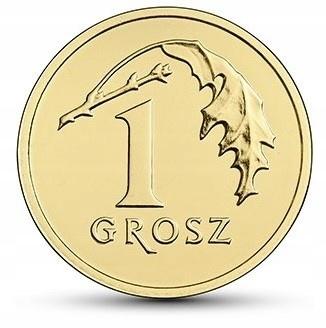 Монета 1 пенни грош 2021 года из мешка