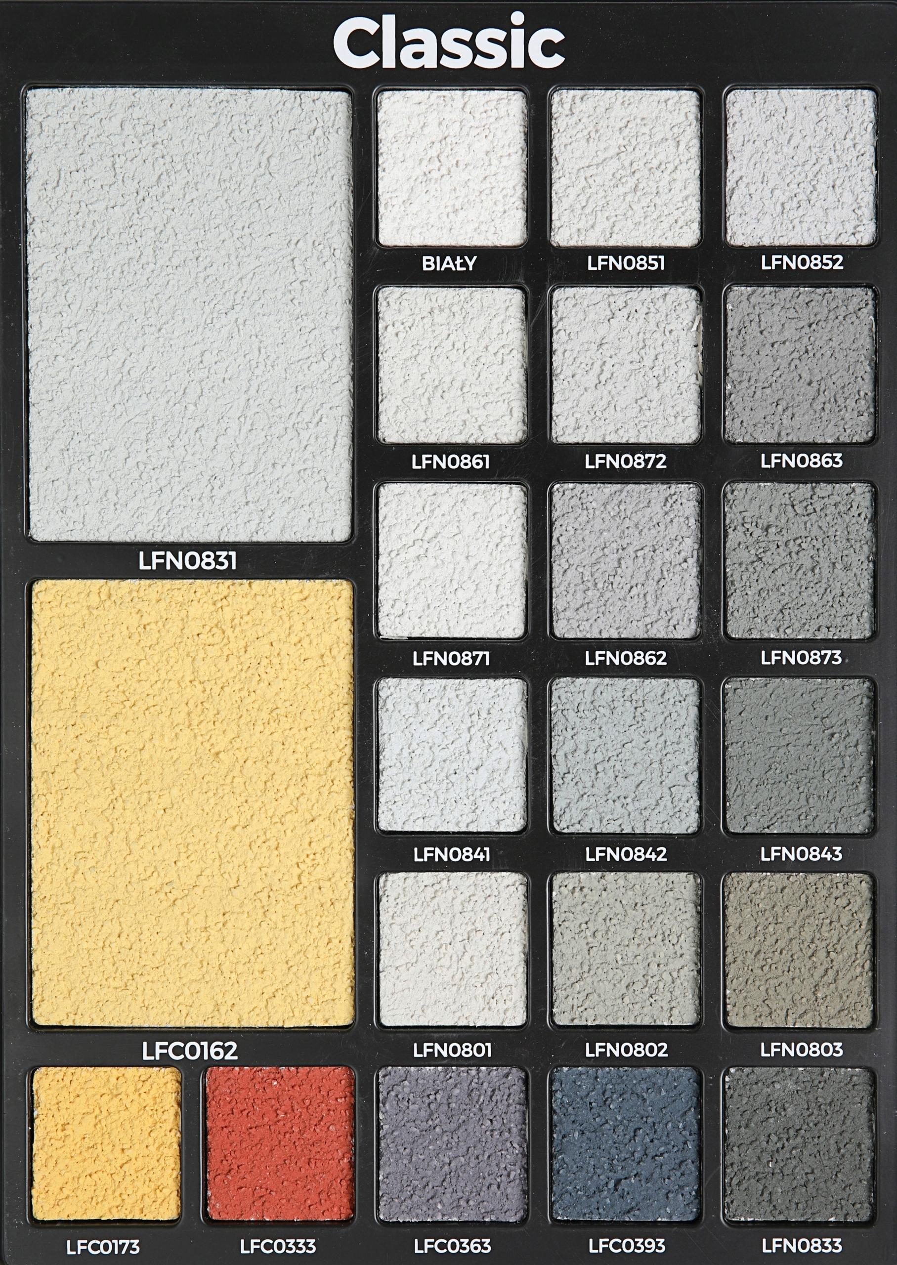 tynk silikonowy strukturalny wszystkie kolory 25kg
