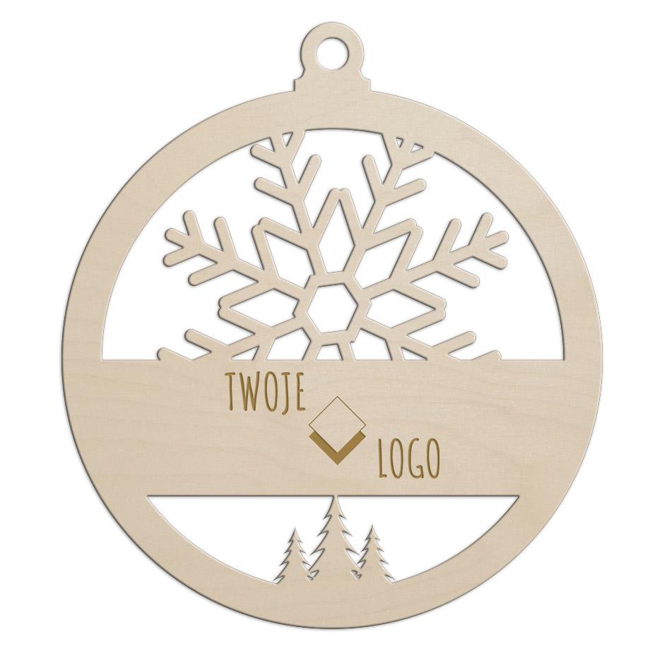 Корпоративная рождественская деревянная безделушка с вашим собственным логотипом