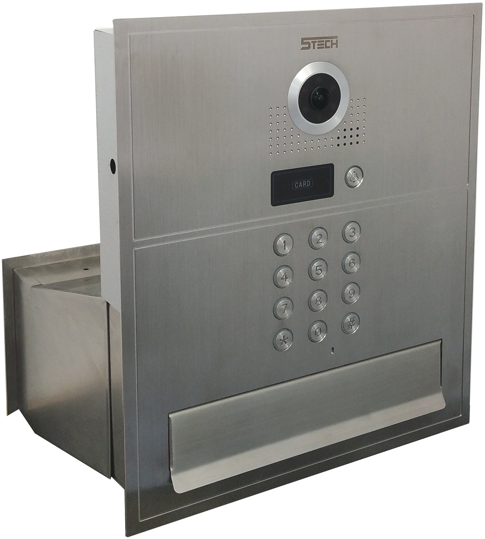 Wideodomofon Videodomofon ze skrzynką na listy FHD Kolor Czarny