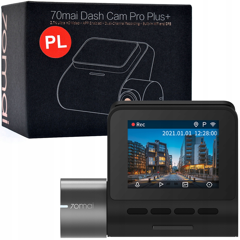 Kamera samochodowa 70mai PRO Plus+ A500S język PL