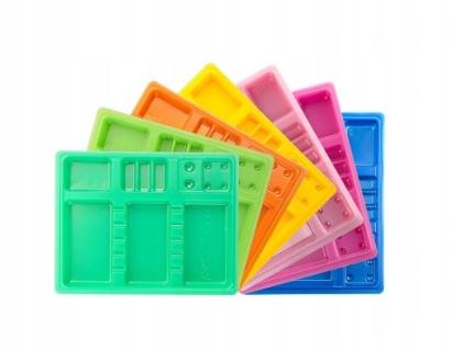 Одноразовые цветные лотки 100 шт.