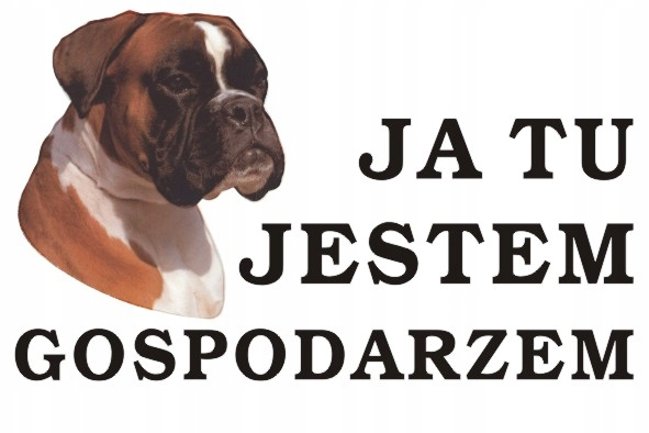 Tabliczka Pies Ja tu jestem gospodarzem 30x40 #75