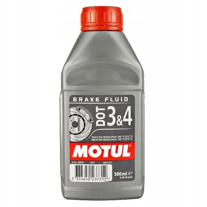 Тормозная жидкость MOTUL DOT3 DOT4 BRAKE FLUID 500 ML