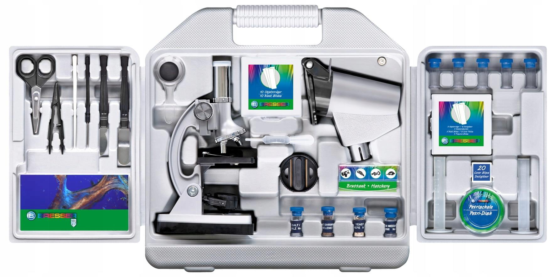 Optický mikroskop 300x-1200x Bresser Junior