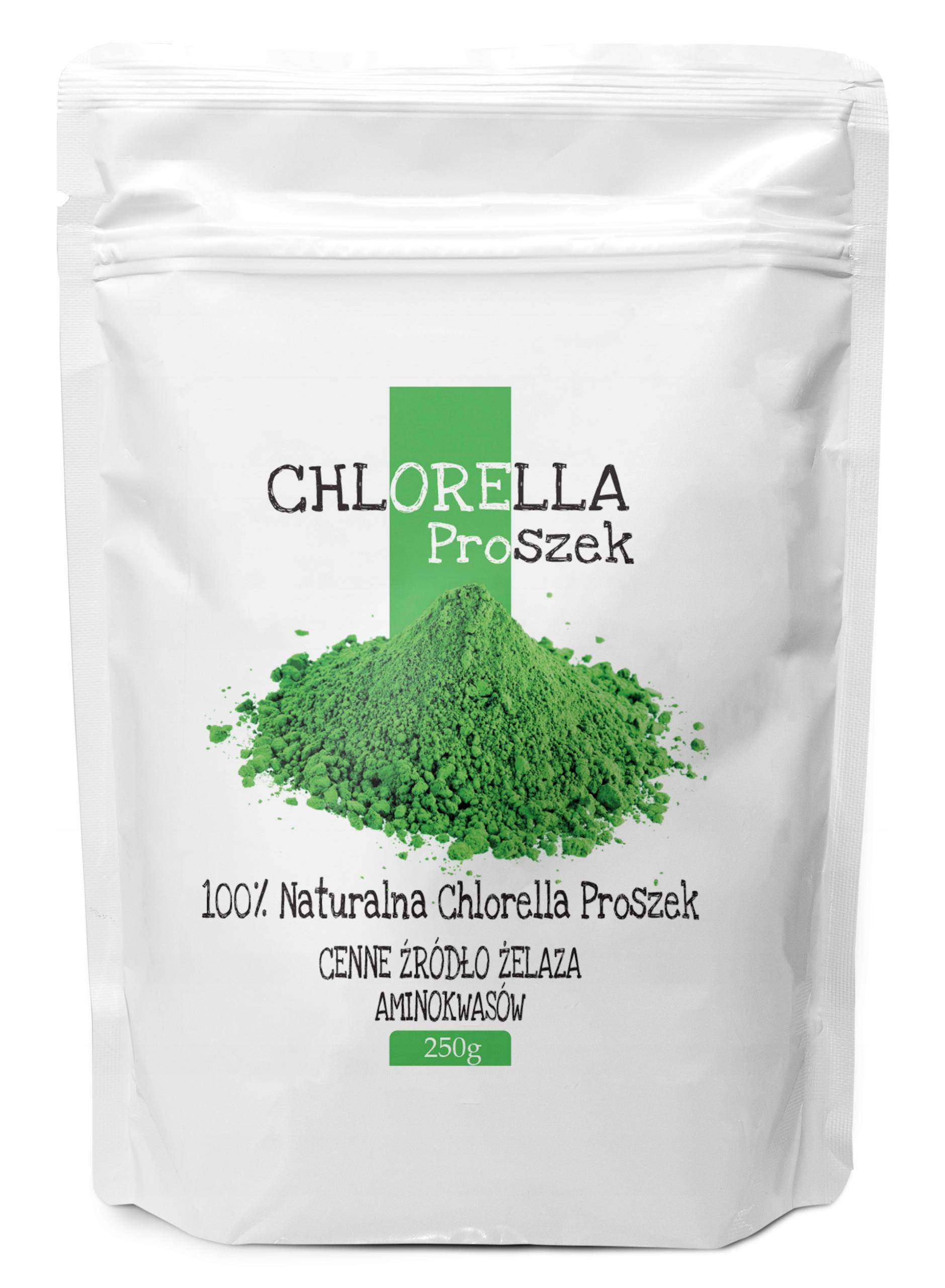 CHLORELLA 250g proszek naturalna, algi / BIOSWENA