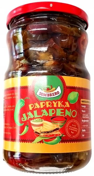 Papryka Jalapeno krojona marynowana 720ml Sombrero