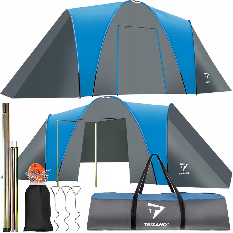 Туристическая палатка для 6 человек + вестибюль 6000 мм