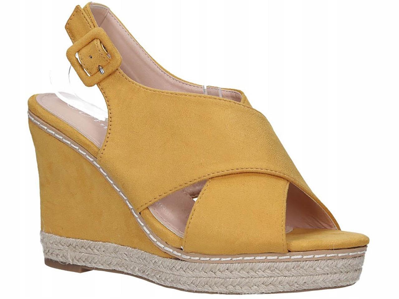 New Stabilne Sandały Espadryle Na Koturnie r 40