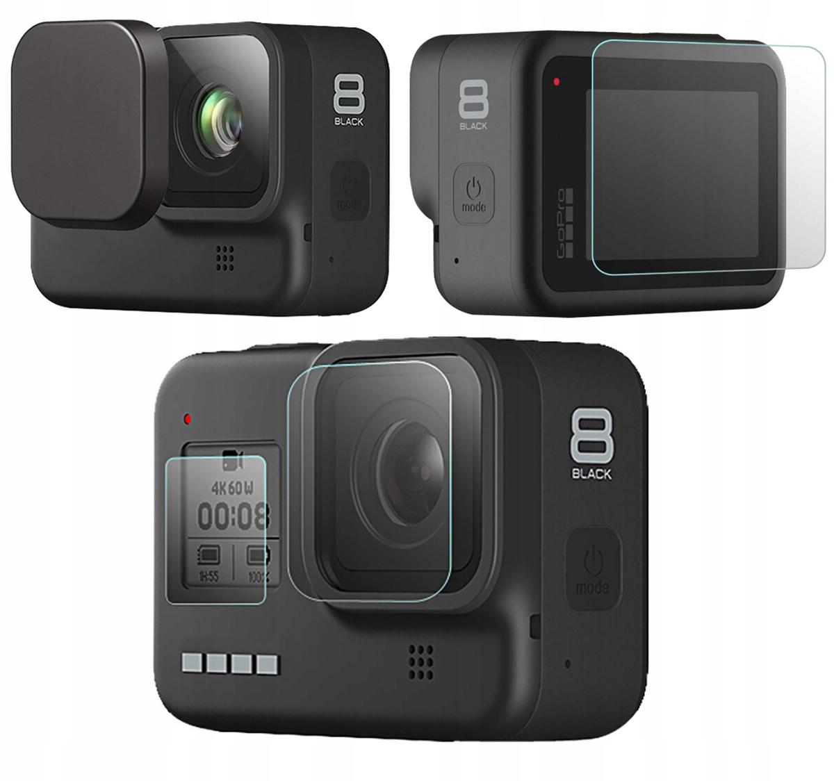 Zestaw ochronny 5w1 obiektyw + LCD do GoPro Hero 8
